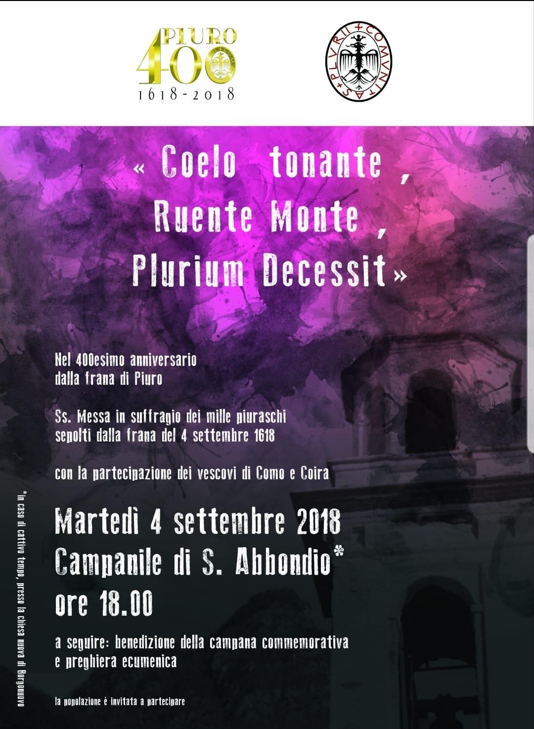 COELO TONANTE, RUENTE MONTE, PLURIUM DECESSIT